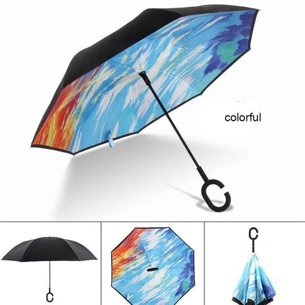Reverse Inverted Umbrella - colorful - Cool Gadgets