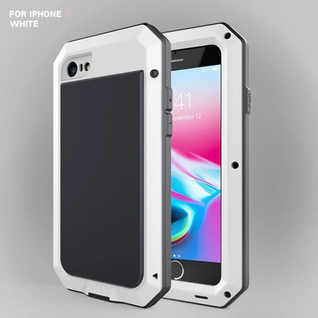 Shockproof Waterproof Military Armour iPhone Case - For iphone 5S SE / White Phone Case - Cool Gadgets