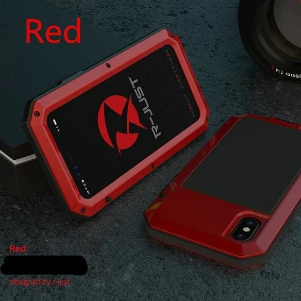 Shockproof Waterproof Military Armour iPhone Case - For iphone 8 Plus / Red Phone Case - Cool Gadgets