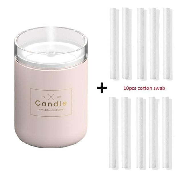 Ultrasonic Candle Aroma Humidifier and Diffuser - Pink and 10 filters - Gifts & Toys