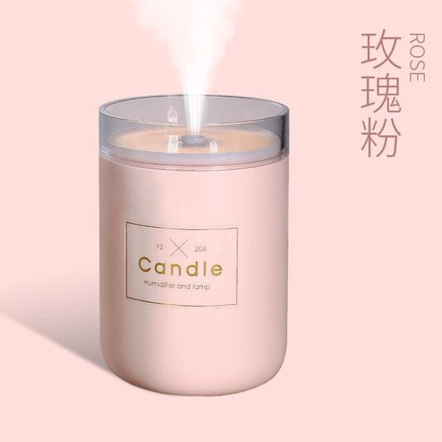 Ultrasonic Candle Aroma Humidifier and Diffuser - Pink - Gifts & Toys