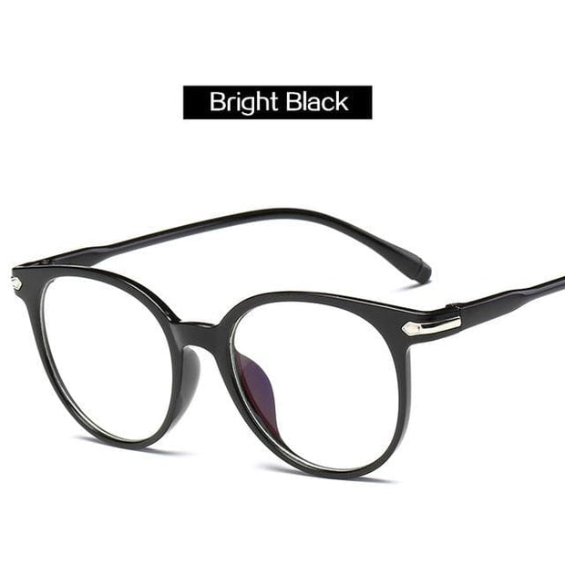 Unisex Blue Light Blocking Reading Glasses - Bright Black - Fashion & Accessories