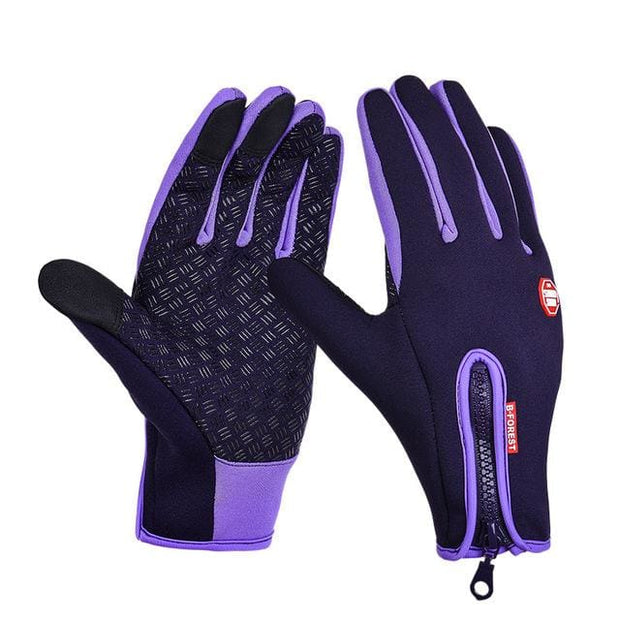 Winter Thermal Warm Gloves - Purple / L - Fashion & Accessories