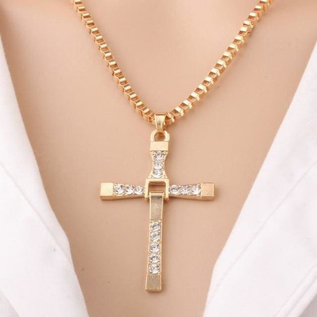 Women Cross Pendant Necklace - Gold - Fashion & Accessories