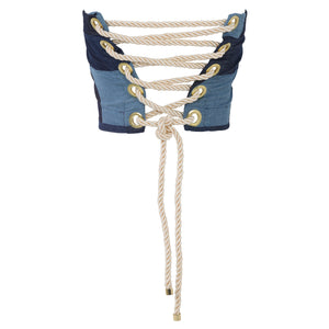 Patchwork Denim Corset