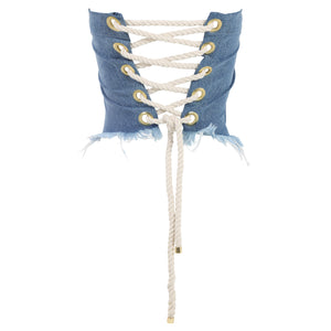 Mid Wash Denim Corset