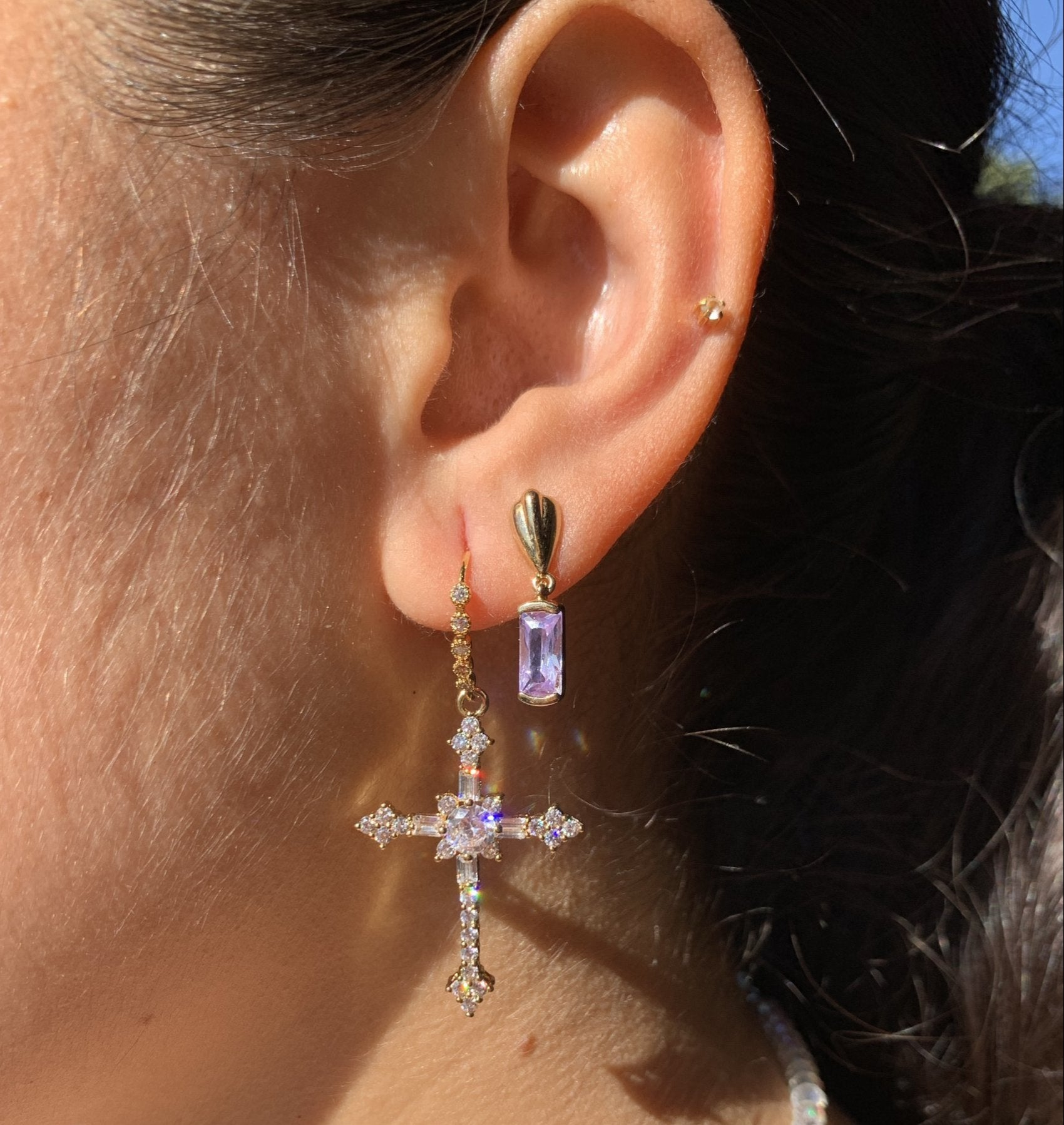 Illuminate Cross Earrings