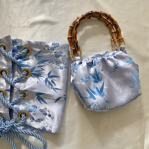 Baby Blue Silk Bag