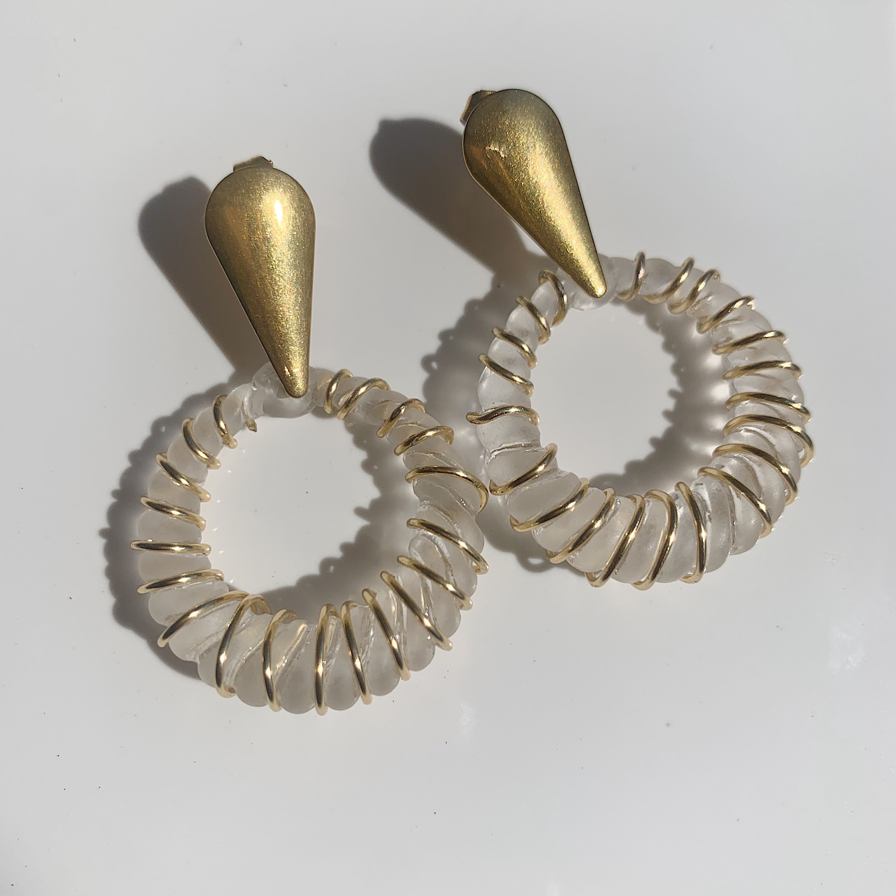 Lucite Hoops (no wire)