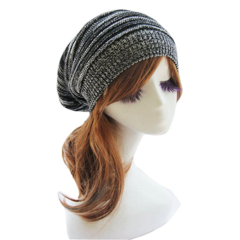 Knit Baggy Beanie Bere  Winter Warm Oversized Ski Cap Hat *Imported