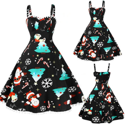 Merry Christmas Santa Claus Formal Holiday Party Christmas Dress *Imported
