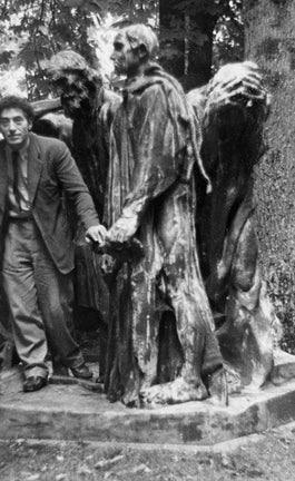 Rodin and Giacometti on a walk across Madrid