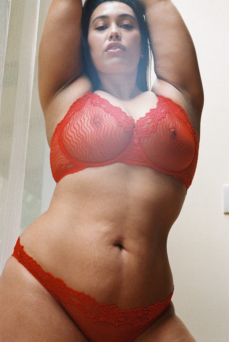 lonely lingerie womanhood red lace bonnie bra
