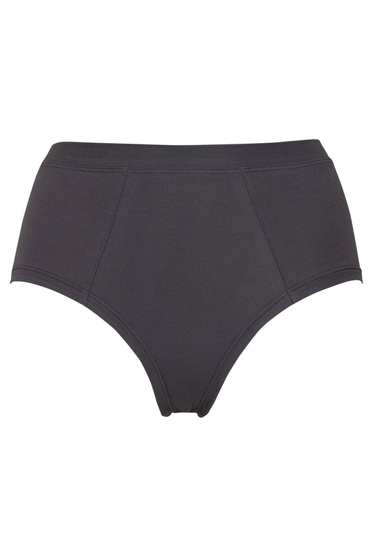 High Waist Jersey Brief Steel