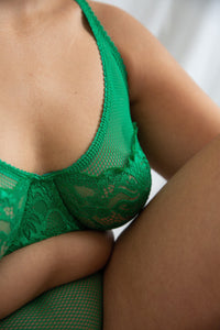 lonely lingerie womanhood lace lena bra green