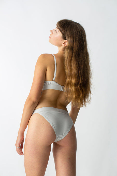 womanhood lingerie - ethical lingerie - organic cotton pants - lingerie set - the nude label