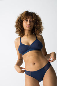 womanhood lingerie - bralette sheer - moons and junes - navy bralette