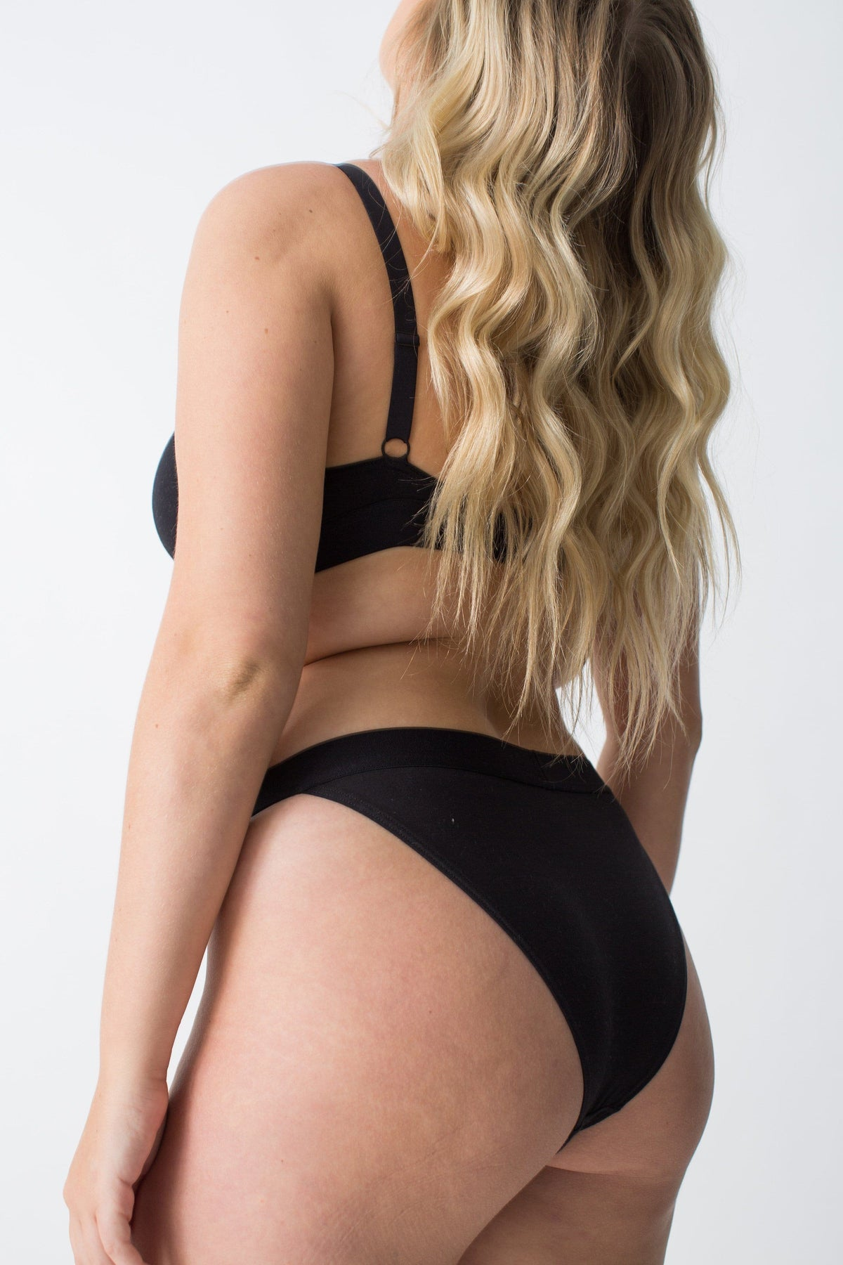 womanhood lingerie - organic cotton underwear - black pants - the nude label - ethical lingerie
