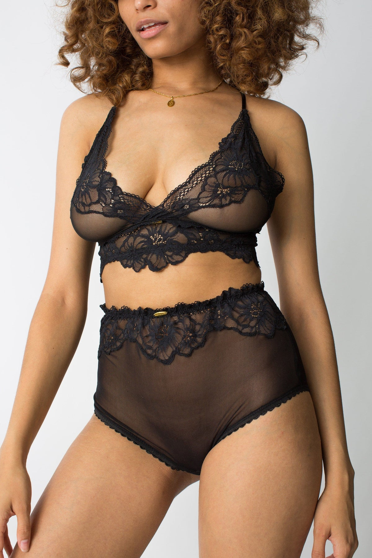 womanhood lingerie - black lace underwear - sexy lingerie - nette rose
