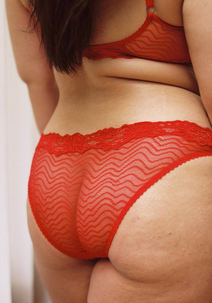 lonely lingerie womanhood bonnie brief in red