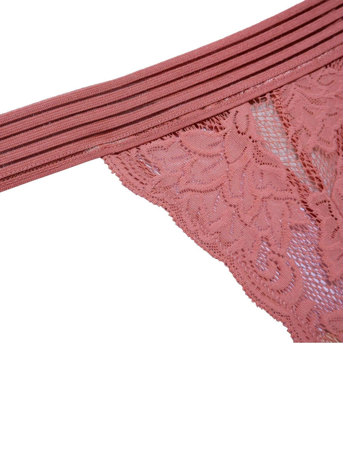womens underwear sustainable thong womanhood underprotection pink lace underwear