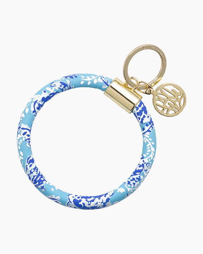 Lilly Pulitzer Round Key Ring/Bangle Style Key Fob in Turtley Awesome