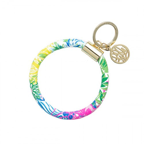 Lilly Pulitzer Round Key Ring/Bangle Style Key Fob in Cheek to Cheek