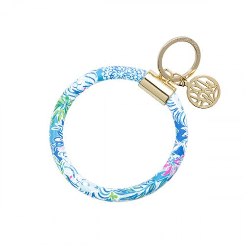 Lilly Pulitzer Round Key Ring/Bangle Style Key Fob in Lion Around