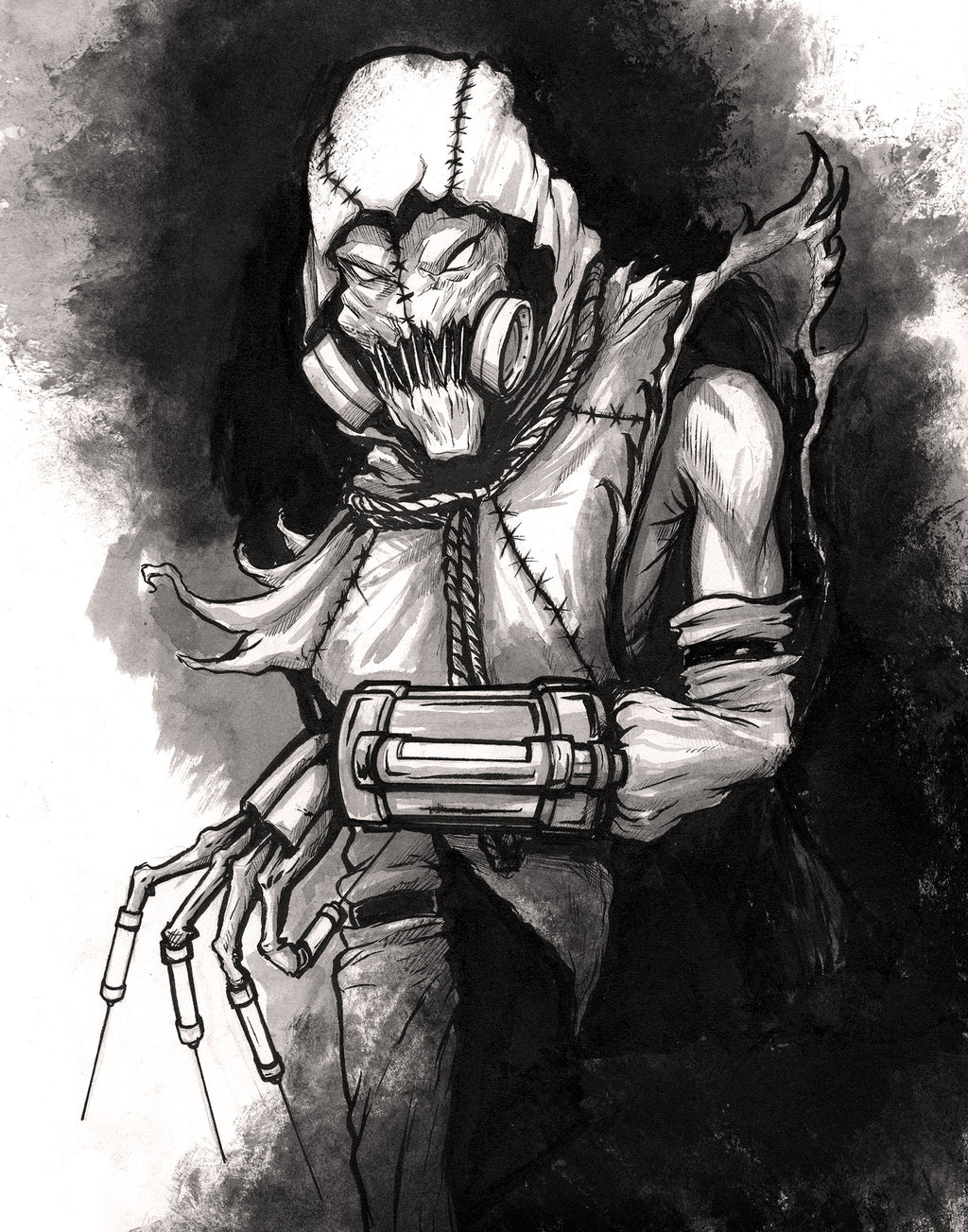 Scarecrow Ink Drawing Giclee Print