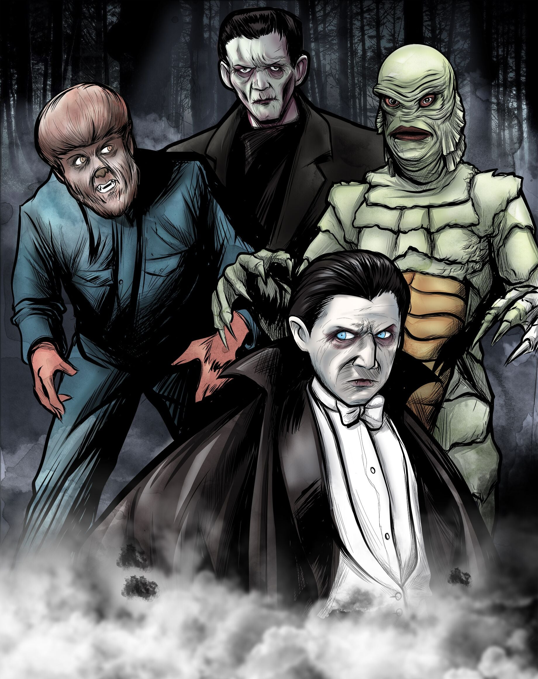 Universal Monsters Giclee Print