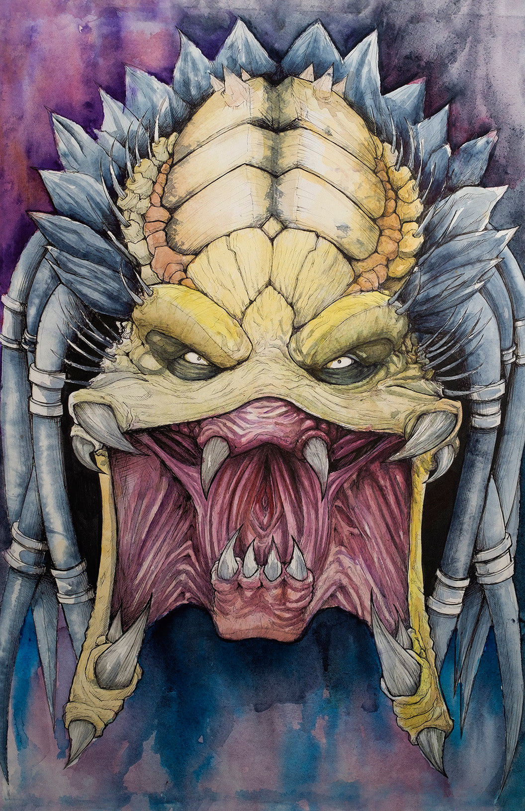 Predator watercolor painting