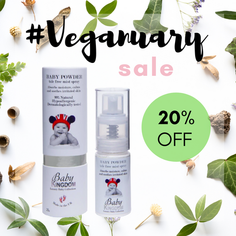 Baby Kingdom Body Powder Veganuary Sale My Beauty Bar UK