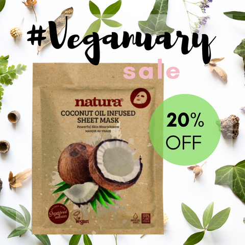 Natura Coconut Sheet Mask Veganuary Sale My Beauty Bar UK