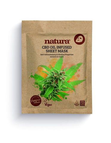 NATURA CBD OIL INFUSED SHEET MASK My Beauty Bar UK