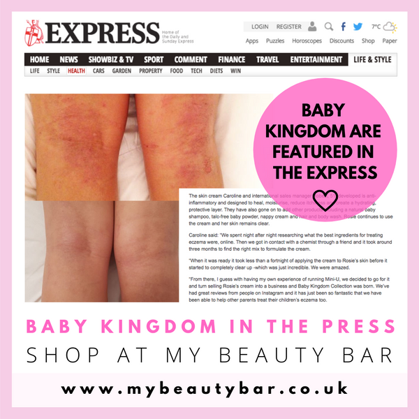 Baby Kingdom in the Express, sold at My Beauty Bar UK