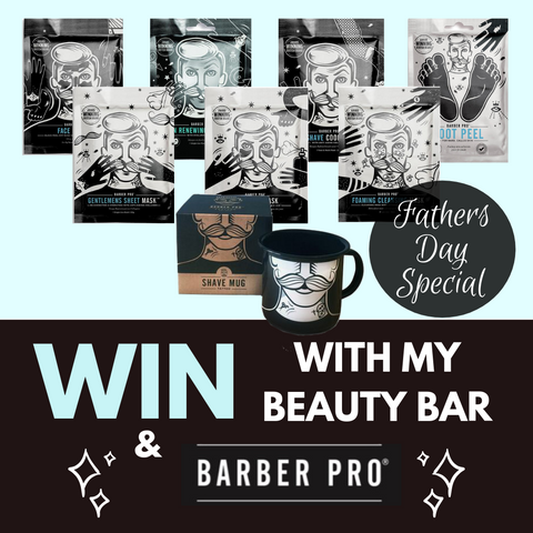 Win a Barber Pro Men's Skincare Bundle for Father's Day with My Beauty Bar