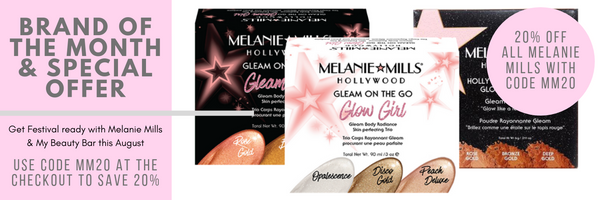 GET FESTIVAL READY WITH MELANIE MILLS HOLLYWOOD & MY BEAUTY BAR | BRAND OF THE MONTH JULY 2019