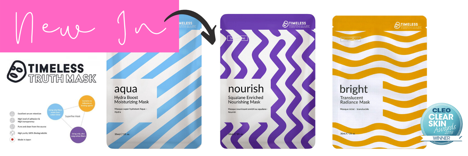 New in Timeless Truth Superfine Sheet Masks My Beauty Bar UK