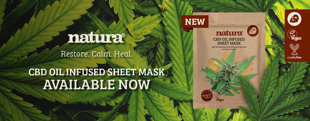 New Natura CBD Oil Infused Sheet Mask Now Available At My Beauty Bar