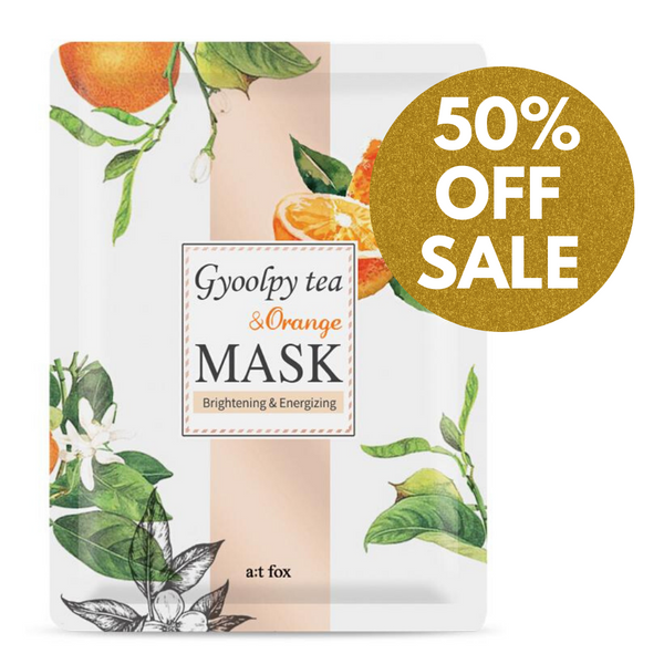 A;T FOX Brightening Gyoolpy Tea & Orange Mask, 20ml