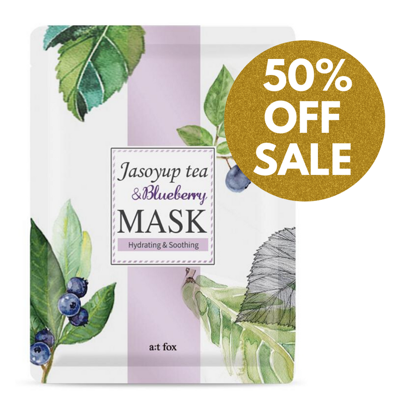 A;T FOX Hydrating Jasoyup Tea & Blueberry Mask, 20ml