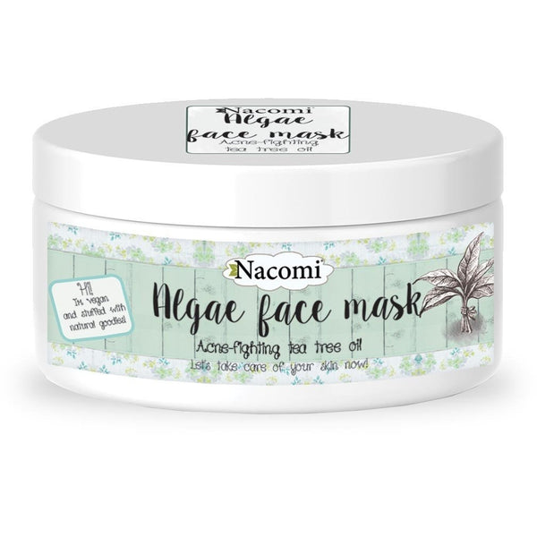 Nacomi Algae Face Mask - Acne Fighting Tea Tree Oil, 42g - MyBeautyBar.co.uk