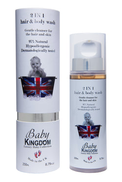 Baby Kingdom 2-in-1 Hair & Bodywash, 250ml - MyBeautyBar.co.uk
