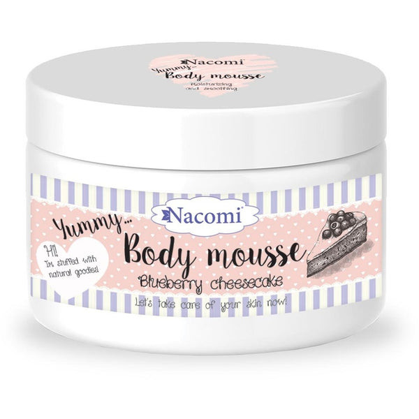 Nacomi Blueberry Cheesecake Body Mousse, 180ml - MyBeautyBar.co.uk