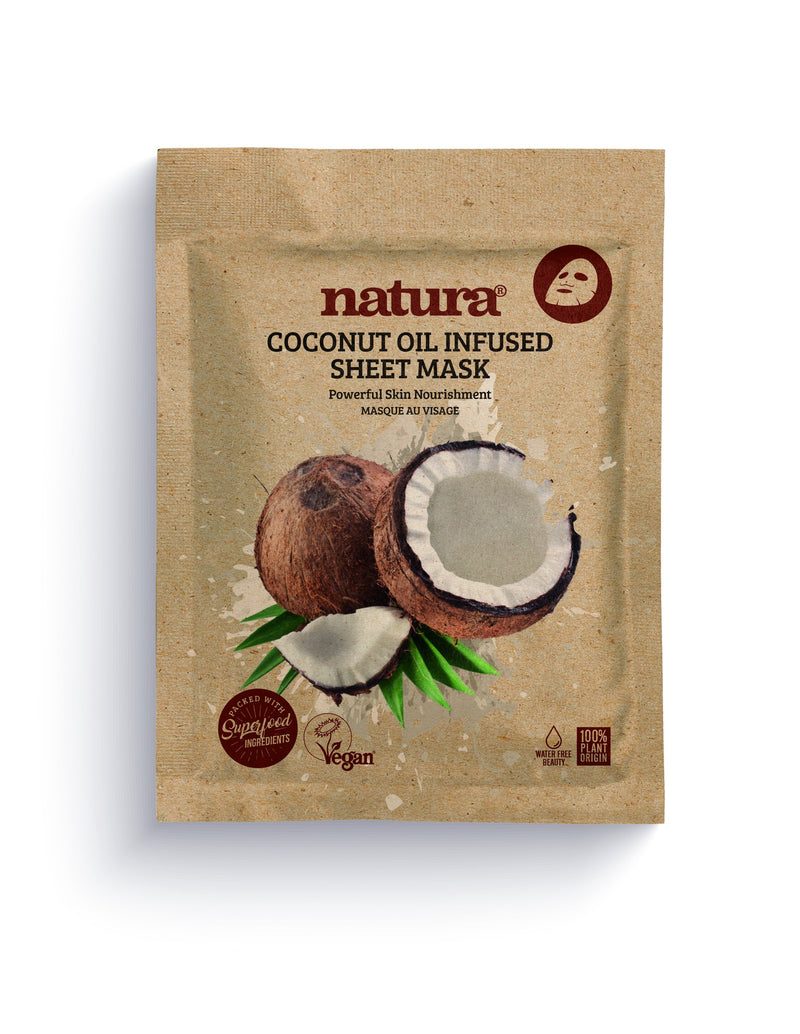 Natura Coconut Oil Infused Sheet Mask - MyBeautyBar.co.uk