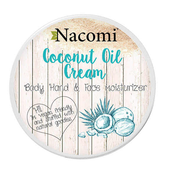 Nacomi Coconut Oil Cream (Face, Body & Hands) 100ml - MyBeautyBar.co.uk