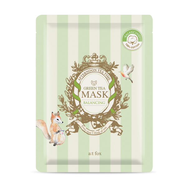 A;T FOX Green Tea Balancing Mask, 20ml - MyBeautyBar.co.uk