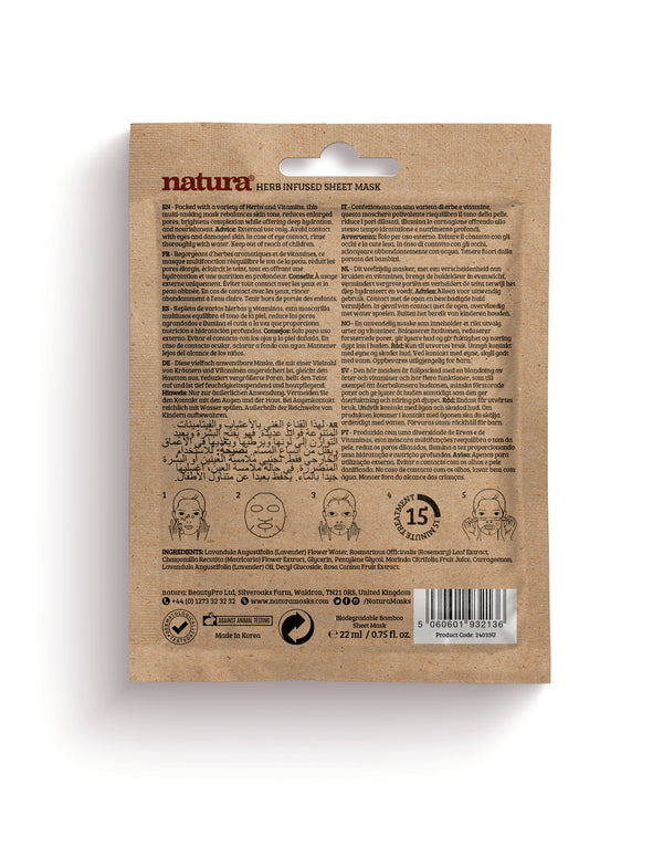 Natura Herb Infused Sheet Mask - MyBeautyBar.co.uk
