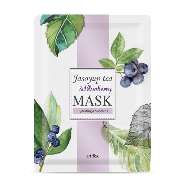 A;T FOX Hydrating Jasoyup Tea & Blueberry Mask, 20ml - MyBeautyBar.co.uk