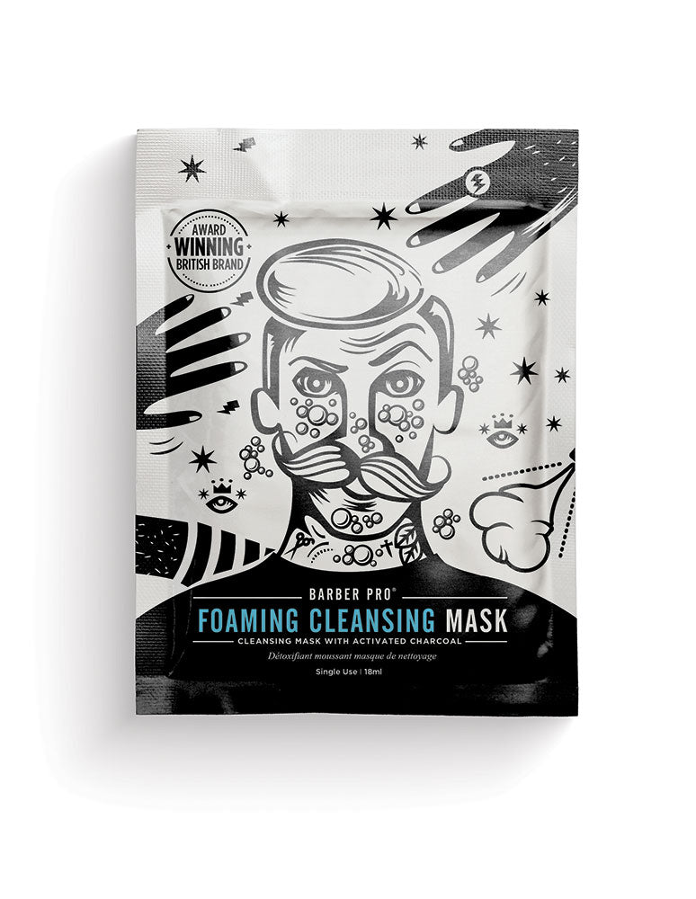 Barber Pro Foaming Cleansing Mask, 18ml - MyBeautyBar.co.uk
